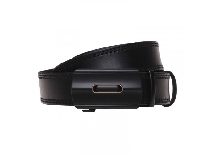 Кожаный ремень с пряжкой автомат Borsa Leather v1genav11
