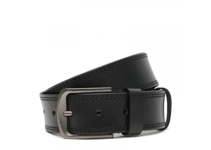 Кожаный мужской ремень V1115GX23-black