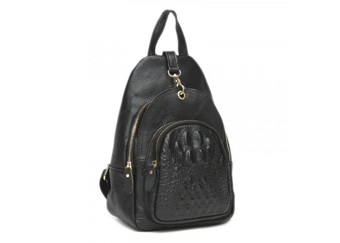Женский кожаный рюкзак Keizer K1315-black