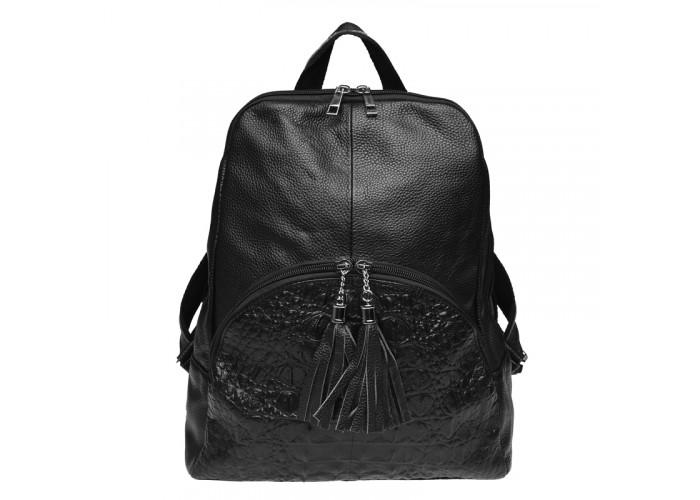 Женский кожаный рюкзак Keizer K1152-black