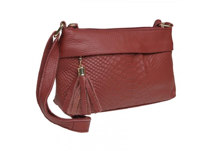 Женская кожаная сумка Keizer K11181-red