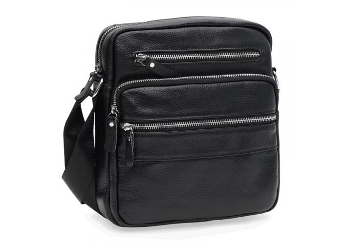 Мужская кожаная сумка Keizer K19981bl-black