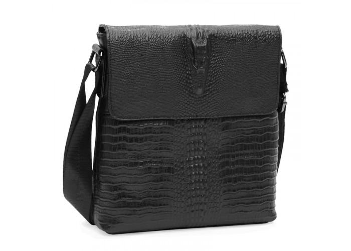 Мужская кожаная сумка Keizer K18159bl-black