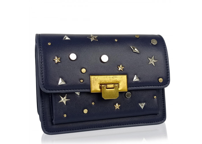 Женская элегантная темно синяя сумка W16-808BL