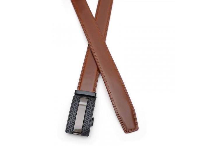 Кожаный ремень с автоматической пряжкой V1GKX10-brown