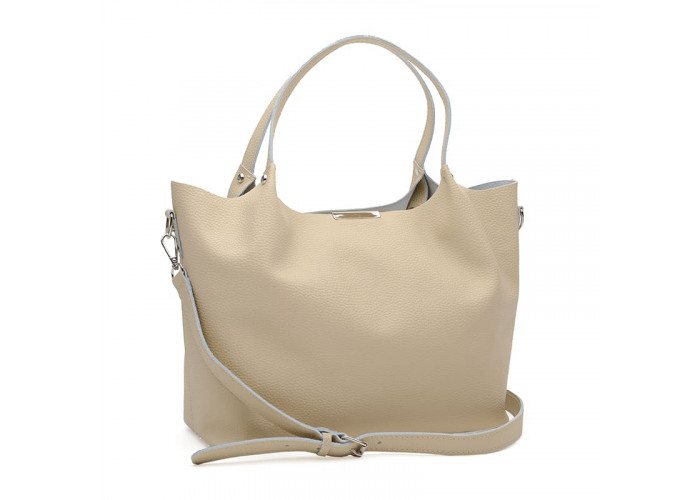 Женская кожаная сумка Ricco Grande 1l943FL-beige