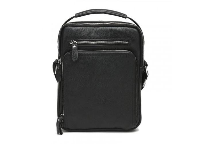Мужская кожаная сумка Keizer K15608a-black