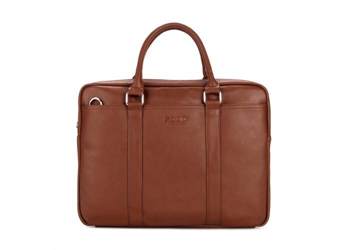 Мужская сумка Polo Vicuna коричневая (6610-4-BR)