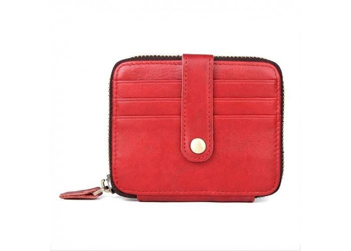 Визитница Vintage 14959 кожаная Красная