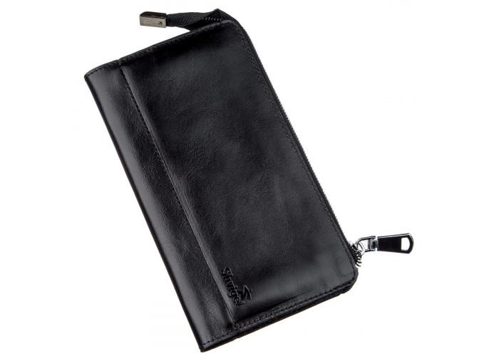Клатч унисекс кожаный алькор SHVIGEL 16186 Черный