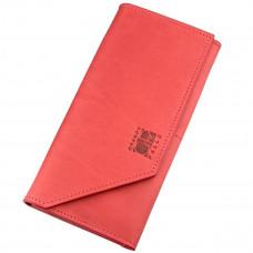 Кожаный горизонтальный клатч из итальянской кожи GRANDE PELLE 11216 Красный