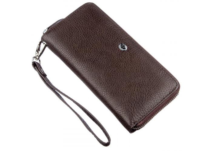 Вместительный женский клатч ST Leather 18930 Коричневый
