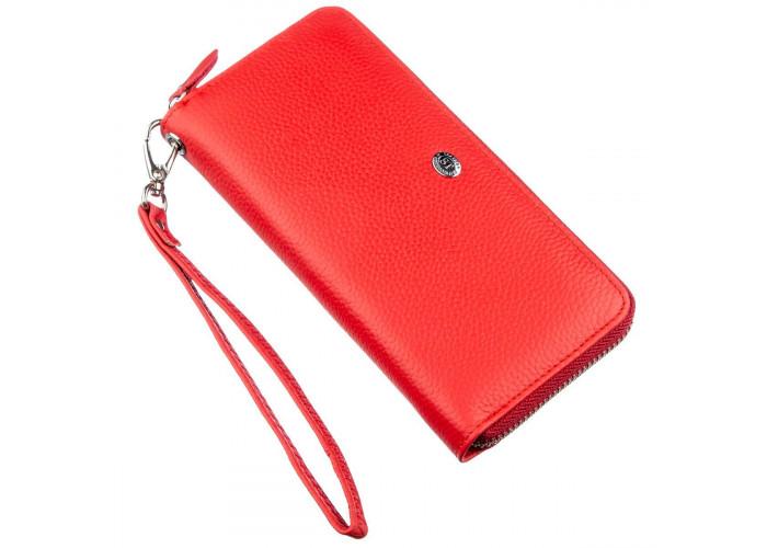 Женский клатч на молнии ST Leather 18931 Красный