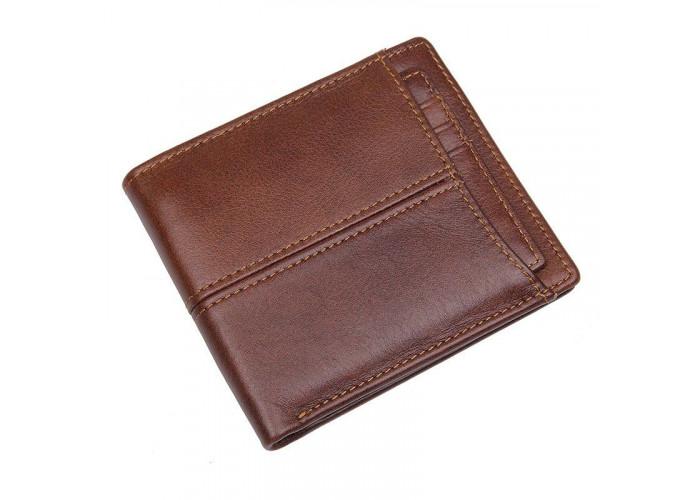 Бумажник горизонтальный кожаный Vintage 14966 Коричневый