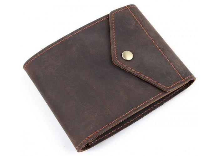 Бумажник горизонтальный в коже Crazy horse Vintage 14975 Коричневый