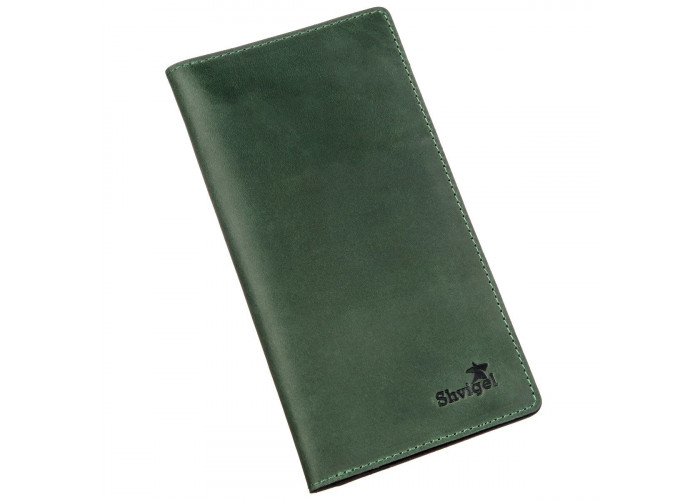Бумажник унисекс вертикальный Crazy horse SHVIGEL 16197 Зеленый