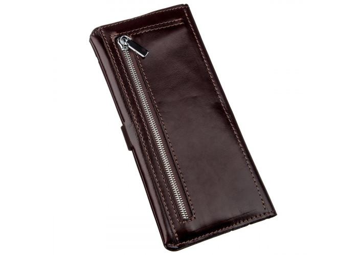 Бумажник вертикальный из кожи алькор SHVIGEL 16202 Коричневый