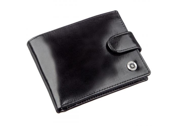 Качественный кожаный кошелек для мужчин Boston 18809 Черный