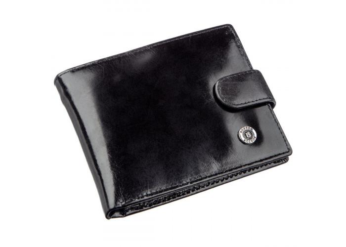 Классический мужской бумажник Boston 18808 Черный