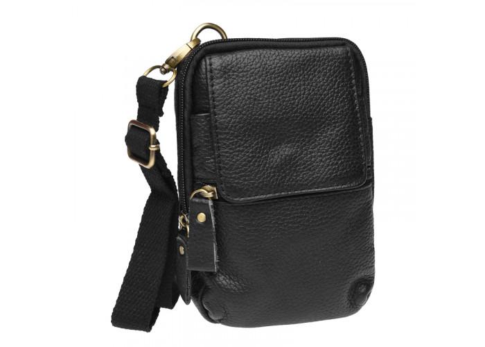 Мужская кожаная сумка через плечо Keizer K11024-black