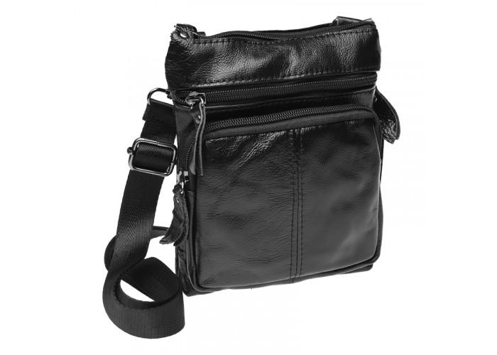 Мужская кожаная сумка Keizer K1701-black