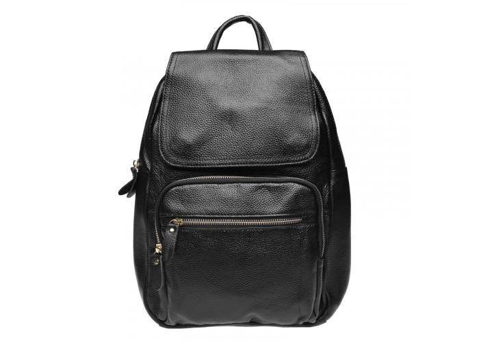 Женский кожаный рюкзак Keizer K1322-black