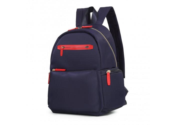 Женский рюкзак Ecosusi Fashion синий с красным (ES0040082A005)