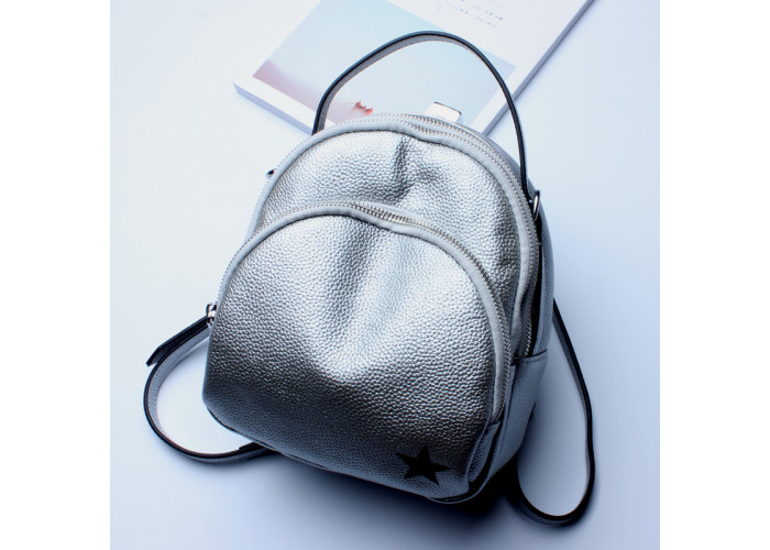 Женский рюкзак Polo серый (VK196-GR)