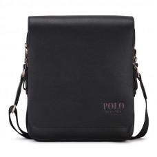 Мужская сумка Polo Vicuna черная (8802-2-BL)