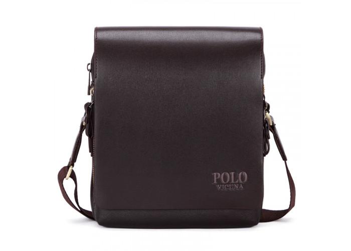 Мужская сумка Polo Vicuna коричневая (8802-2-BR)