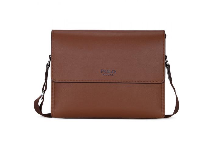 Мужская сумка Polo Vicuna коричневая (8822-4-BR)