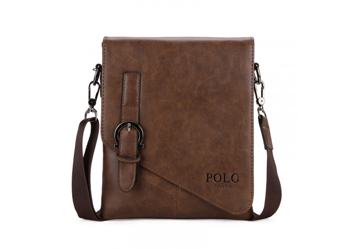 Мужская сумка Polo Vicuna коричневая (8838-2-BR)