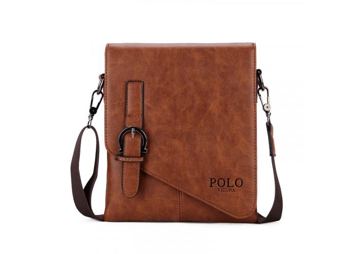 Мужская сумка Polo Vicuna светло-коричневая (8838-2-KH)