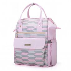 Сумка-рюкзак для мамы mommore розовая (0090211A012)