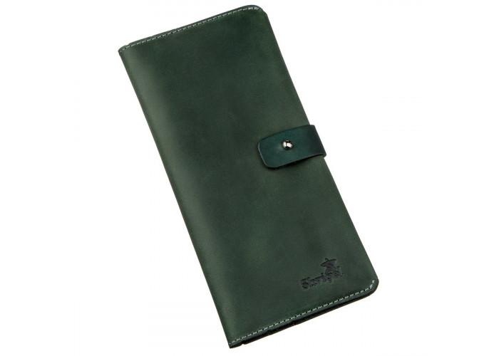Бумажник из винтажной кожи SHVIGEL 16206 Зеленый