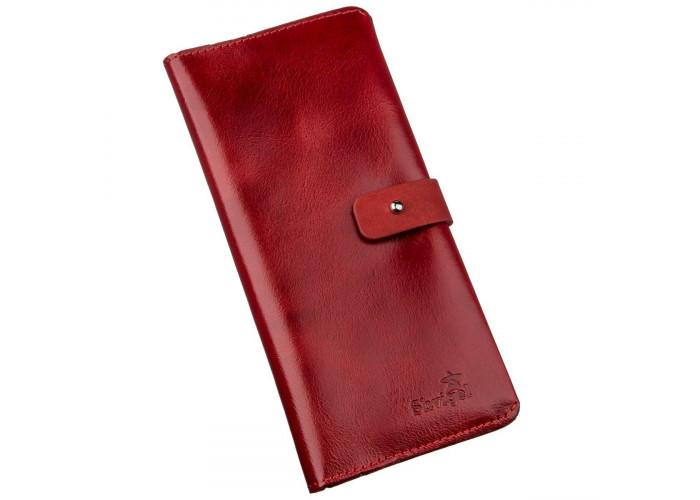 Бумажник женский вертикальный из кожи алькор SHVIGEL 16203 Красный