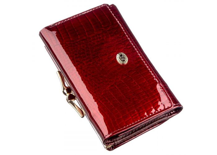 Классический женский кошелек на кнопке ST Leather 18913 Бордовый