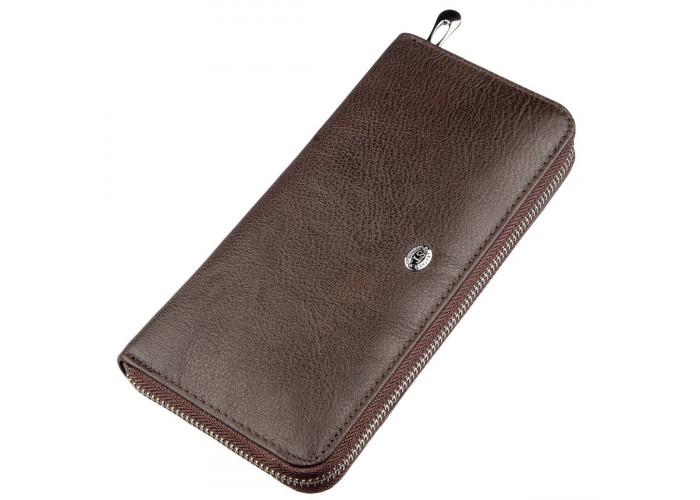 Вертикальный женский кошелек ST Leather 18860 Коричневый