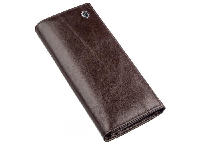 Вместительный кошелек для женщин ST Leather 18894 Коричневый