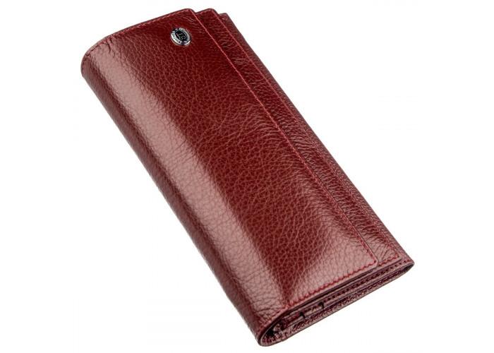 Женский кошелек с монетницей на молнии ST Leather 18956 Темно-красный