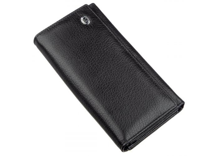 Женский кошелек с визитницей ST Leather 18881 Черный