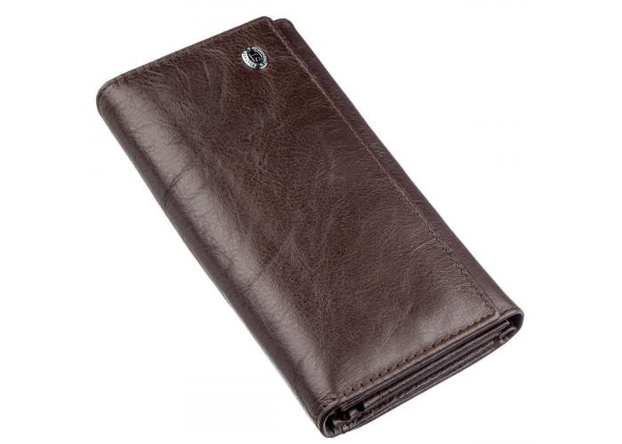 Женский кошелек-визитница ST Leather 18878 Коричневый